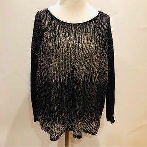 Eileen Fisher Black&Bone Loose Knit Pullover L